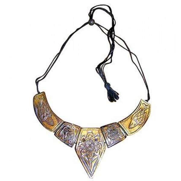 Auspicious 5 signs bone necklace
