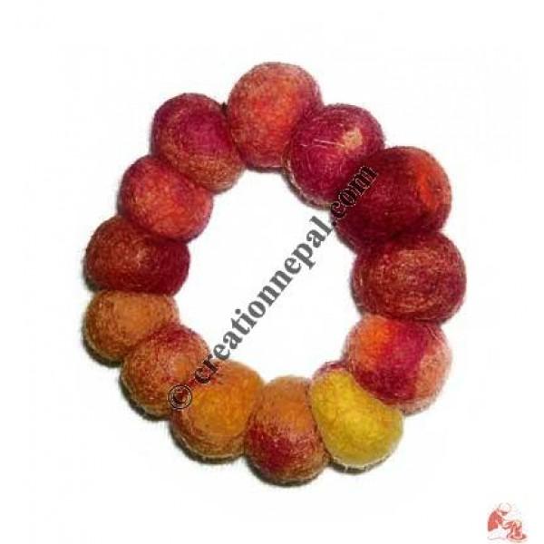 Tie-dye felt bracelet 22