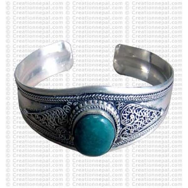 Single stone bangle 1
