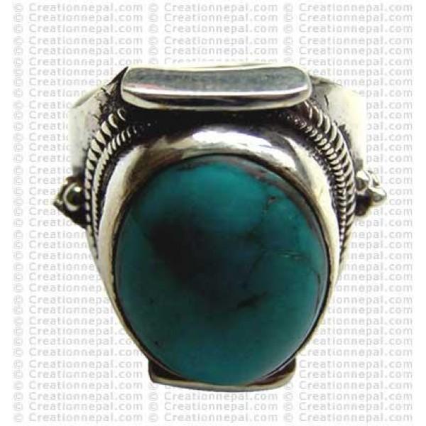Turquoise finger ring 12