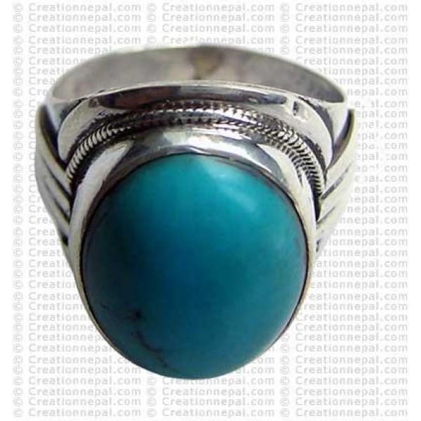 Turquoise finger ring 15