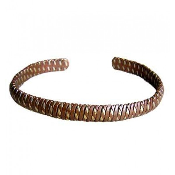 Cupper-brass snake design bracelet