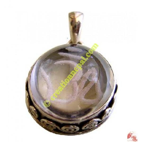 Crystal om pendant