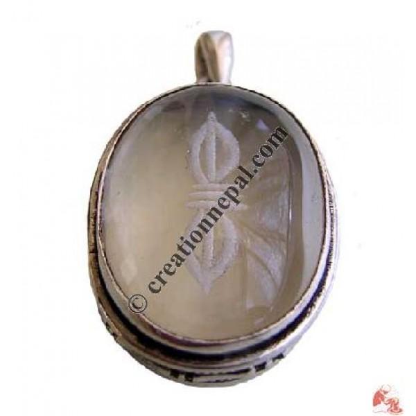 Crystal Vajra pendant