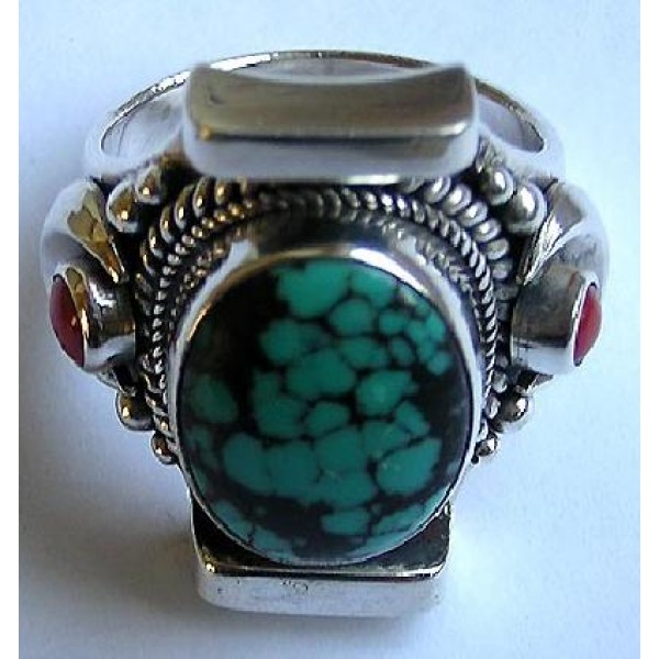 Turquoise stone finger ring 7