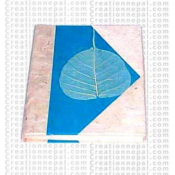Peace leaf decoration pocket journal