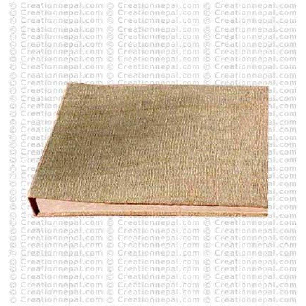 Hemp fabric patch cover photo album