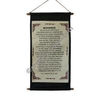 Dalai Lama preaching scroll: Selfishness