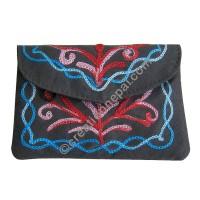 Faux suede flap cover tiny purse