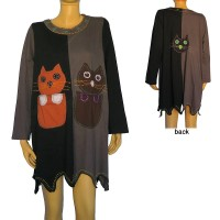 Kitten design 2-colour sinkar dress