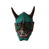 Turquoise color resin Evil mask