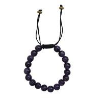 Amethyst stone  8 mm beads bracelet