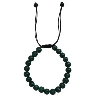 Green onyx stone 8mm beads bracelet