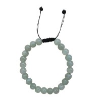 Light onyx stone 8mm beads bracelet