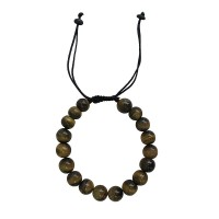Tiger-eye stone 10mm beads bracelet