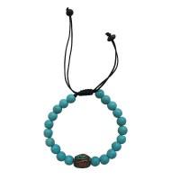 Imitation Turquoise stone 8mm beads bracelet