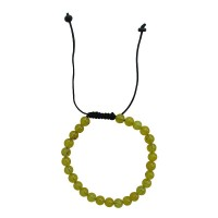 Yellow onyx stone 6mm beads bracelet