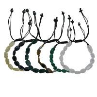 Oval shape flat type stone assorted bracelet