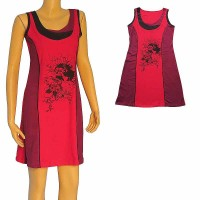 Artistic flowers print 2-color dress