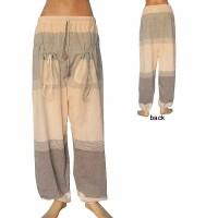Big stripes khaddar front pockets trouser