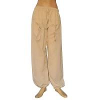 Natural white khaddar front pockets trouser
