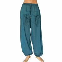Petrol blue khaddar front pockets trouser