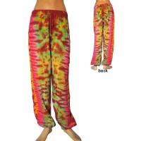 Thin rayon tie-dye trouser