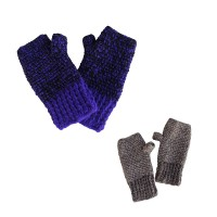 2 color mixed woolen tube gloves