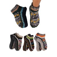 Assorted color woolen indoor socks