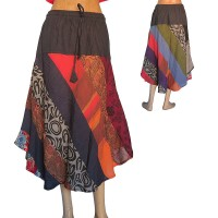 Colorful prints joined skirt