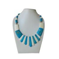 2-color bone necklace