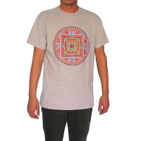 Colorful Om-Mandala print cotton t-shirt