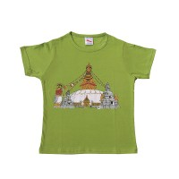 Stupa print cotton kids t-shirt
