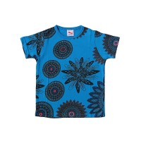 Flowers print cotton kids t-shirt