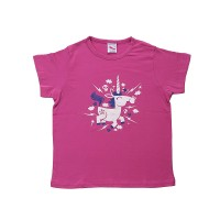 White horse print cotton kids t-shirt
