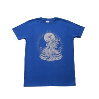 Green Tara print cotton t-shirt