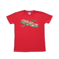 Colorful NEPAL print cotton t-shirt