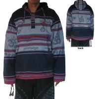 Stripy shyama cotton navy pullover