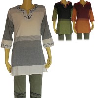 Tin-pate cotton sari top