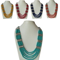 5-strand Small beads necklace