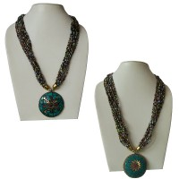 Brass pendent pote necklace2