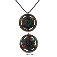 Om Mani mantra 2-face pendent