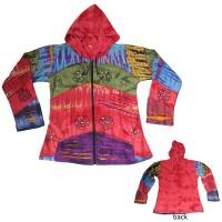 Colorful razor cut rib hoodie