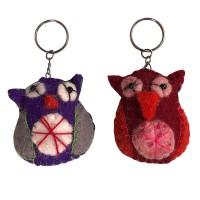 Baby Owl design felt key ring