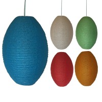 Large oval net lampshade