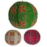 Wax print medium ball lampshade2