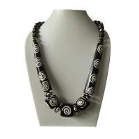 Chakra prints large beads necklace