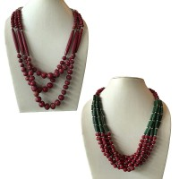 Antique look beads necklace