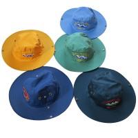 Embroidered cotton round hat