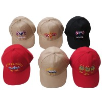 Embroidered cotton baseball hat